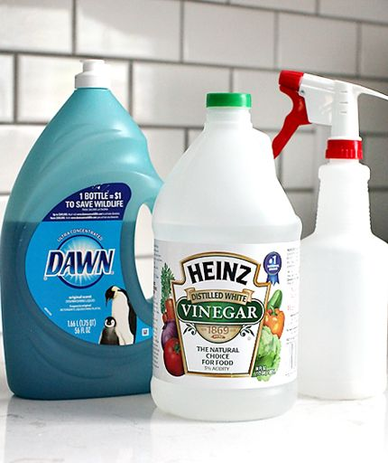 How to clean your shower - put in one of those short wands with the sponge head. In NZ, substitute Dawn with any dish soap that is tough on grease but doesn't have moisturisers and other extras added.