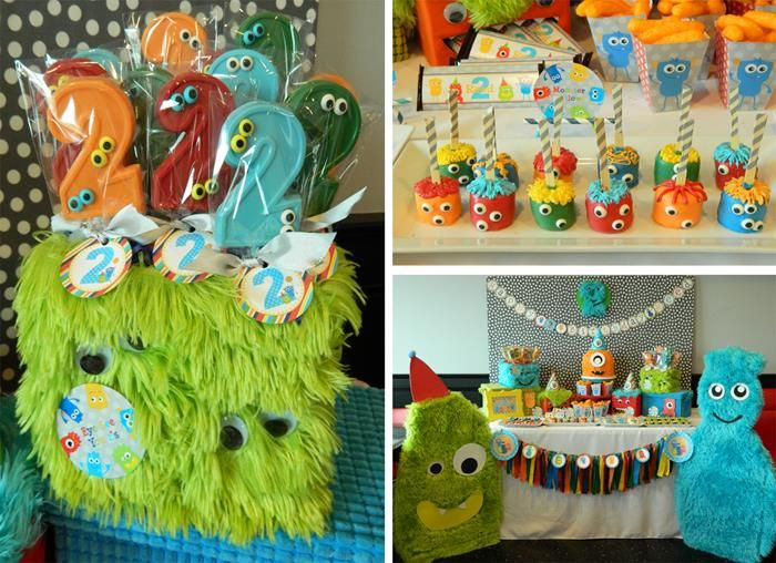 Monster Bash Themed Birthday Party, which helps makes birthday planning for boys cute and fun.  Can also be used as a first birthday party theme!  (KarasPartyIdeas.com)