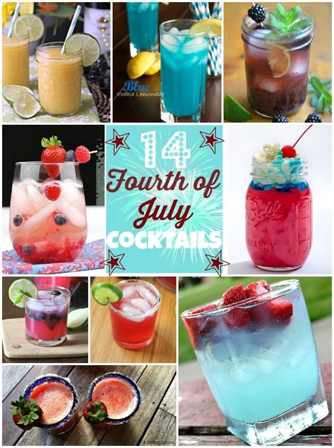 14 Fourth of July Cocktails // 4th of july alcoholic drink ideas #recipes