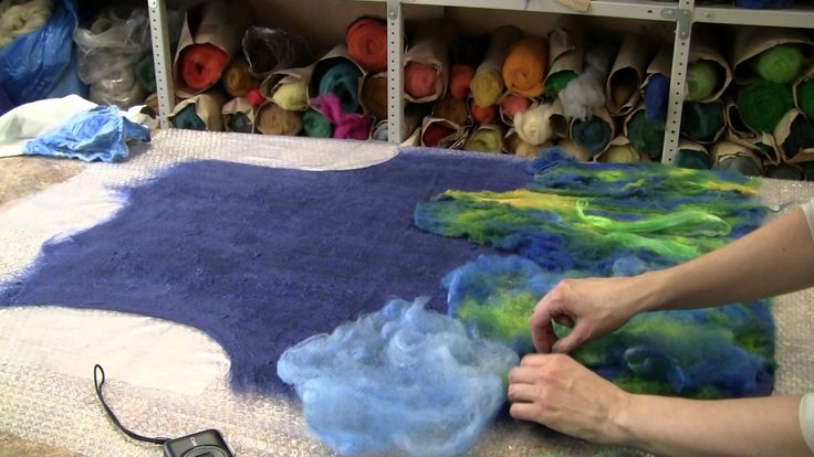 Video demo of nuno felting a vest. No instruction, just inspiration.