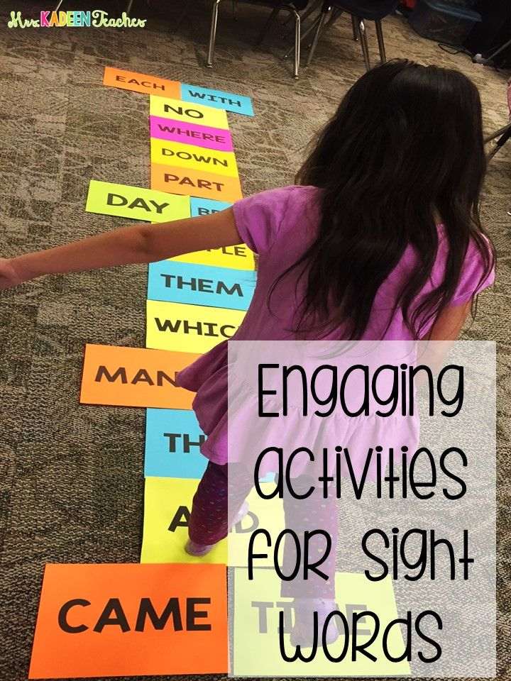 Awesome ideas for fun with sight words.