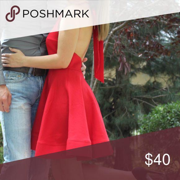 Red Skater Skirt Dress Skater skirt dress. Only worn for pictures Luxxel Dresses