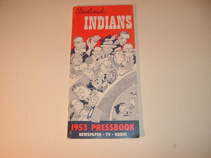 1953 Cleveland Indians Press Radio TV Press and Radio Yearbook Media Guide #2  | Sports Mem, Cards & Fan Shop, Vintage Sports Memorabilia, Publications | eBay!