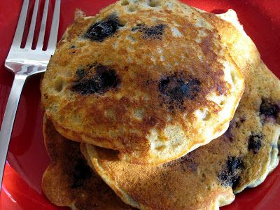"""This is one of my favorite recipes to """"make ahead"""" as a mix. Simply combine the dry ingredients in a quart-size ziptop bag, label w/ the wet ingredients and stash until the mood for power-packed pancakes strikes."""