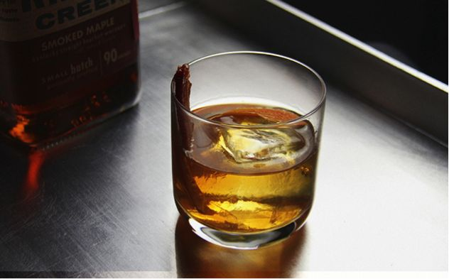 Candied Bacon Brown Sugar Simple Syrup And Bourbon