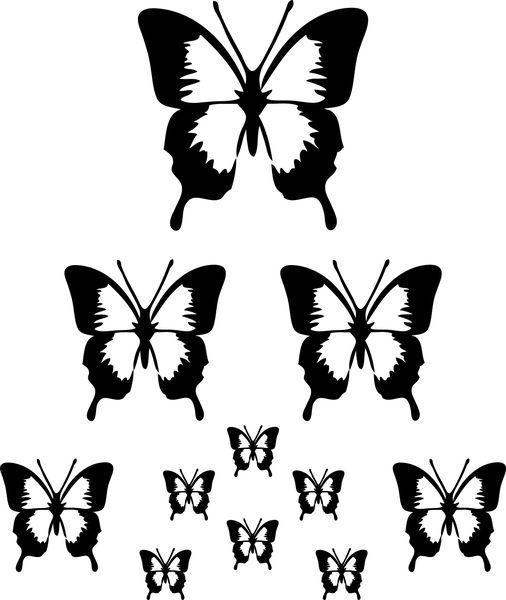 Väggdekor      11st Fjärilar i Valfri färg