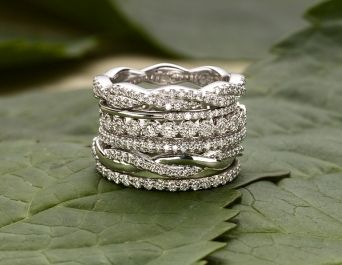 Stack-able wedding/anniversary rings