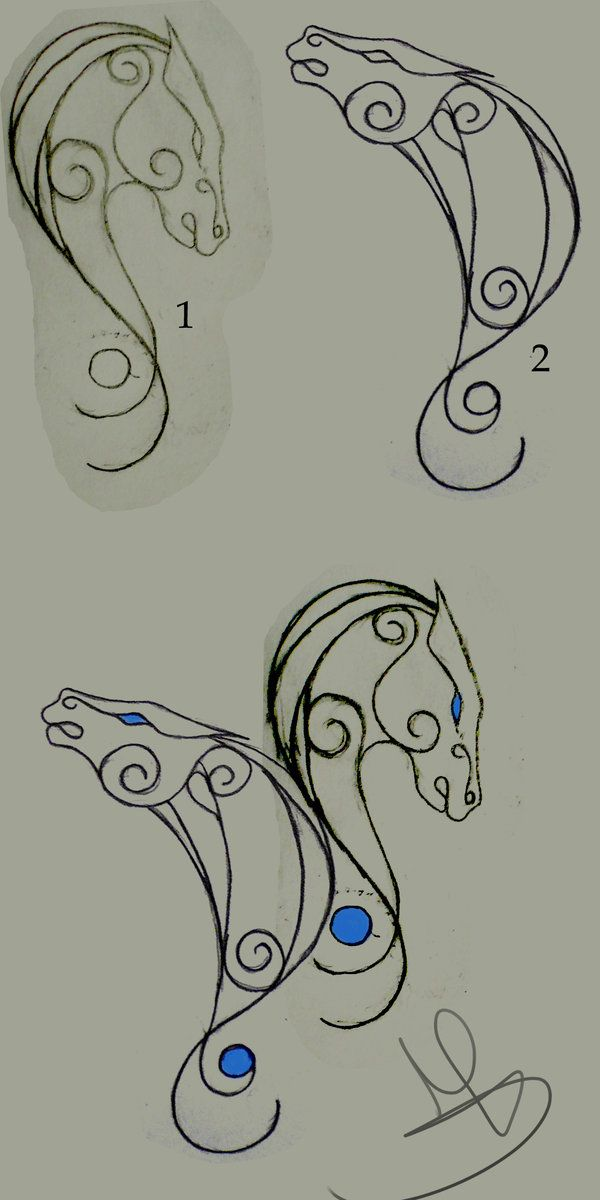 Horse Tattoo by *Mondwolf on deviantART. I WANT