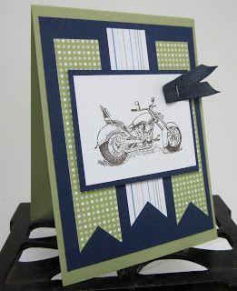 Stampin' Up UK Demonstrator Sarah-Jane Rae Cards and a Cuppa blog: Stampin' Up! Motorcycle card