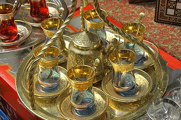 Traditional Turkish tea glasses