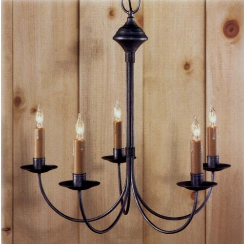 Pewter Eastham Iron Chandelier