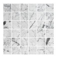 Marmormosaik U4848 Carrara Polerad 48x48 mm   Stonefactory.se