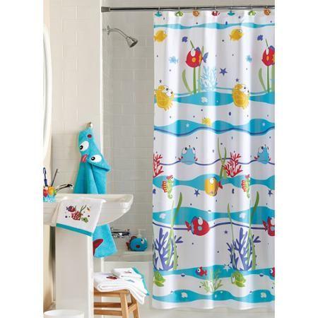 Best Shower Curtains Walmart Ideas On Pinterest White Flat - Unisex kids shower curtain for small bathroom ideas