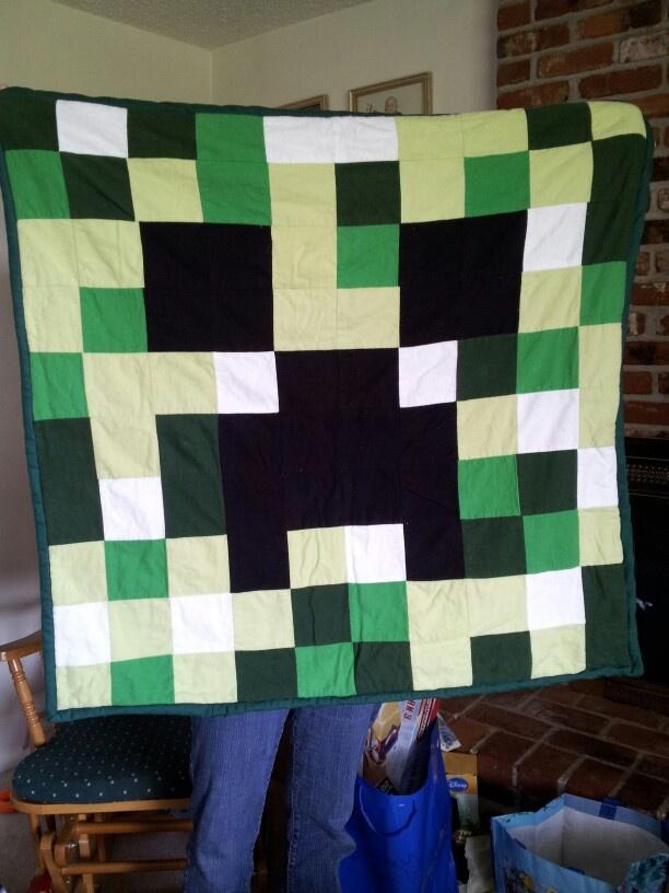 minecraft quilt: Minecraft Blankets, Crochet Boy Blanket, Crochet Blanket Kids Boys, Minecraft Crochet Blanket, Minecraft Quilts, Boy Birthday, Boy Blanket Crochet, Crochet Minecraft Blanket, Minecraft Blanket Crochet