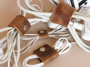Leather Cable Organizers - personalised
