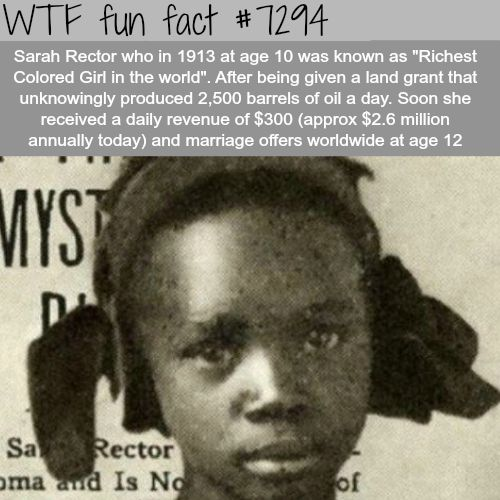 Sarah Rector - WTF fun fact