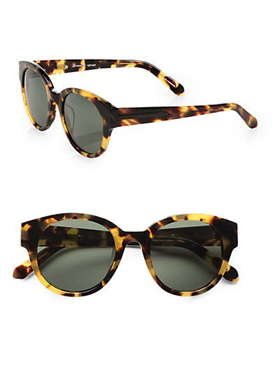 These need to be on my face // Karen Walker - Anywhere Round Sunglasses/Tortoise - Saks.com