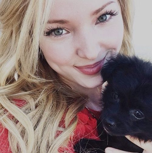 Image - Dove Cameron with puppy.jpg - Liv and Maddie Wiki - Wikia