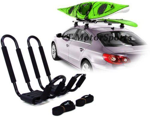 Get the KAYAK-RK-J Universal Roof J Rack Kayak Boat Canoe Surf Ski Car Top Carrier by TMS online with fast, secure, Amazon checkout on Kayak World Products today.