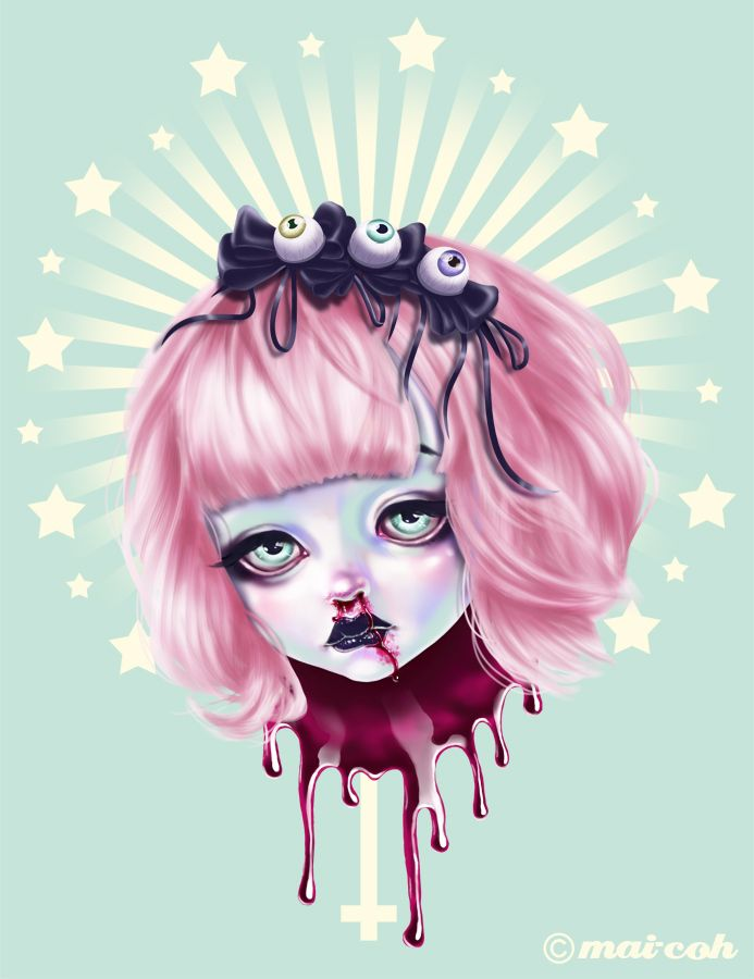 Pastel Bleeding 2 by mai-coh.deviantart.com on @deviantART