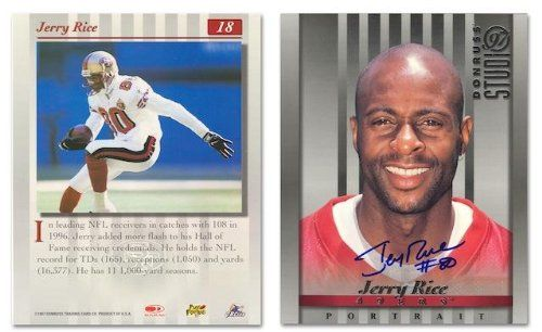 Jerry Rice Autographed 8x10 Donruss Card - Autographed NFL Photos  https://allstarsportsfan.com/product/jerry-rice-autographed-8x10-donruss-card-autographed-nfl-photos/  100% Certified Authentic and Backed by our Sports Memorabilia Authenticity Guarantee Category; Autographed NFL Photos Makes a Great Gift!