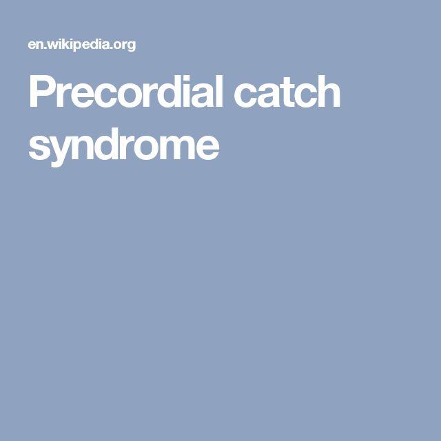 Precordial catch syndrome