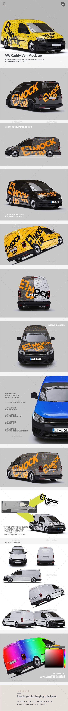 VW Caddy Van Mock up — Photoshop PSD #vehicle #wraps • Download ➝ https://graphicriver.net/item/vw-caddy-van-mock-up/20249738?ref=pxcr