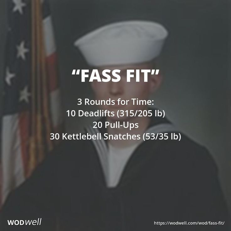 """""""Fass Fit"""" WOD - 3 Rounds for Time: 10 Deadlifts (315/205 lb); 20 Pull-Ups; 30 Kettlebell Snatches (53/35 lb)"""