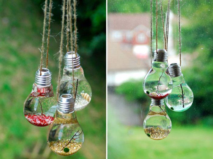 #riciclare le vecchie lampadine - #terrari