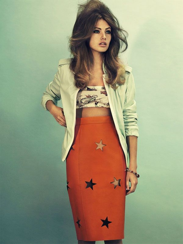 Mona Johannesson: Elle Sweden, Headband, Mona Johannesson, Stars, Outfit, Big Hair, Pencil Skirts, Partial Sweden, Cut Outs