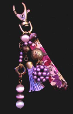Bijou de sac Liberty Violet Laiton