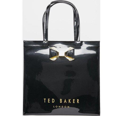 Ted Baker - Borsa con fiocco a cristalli e grande icona - Nero asos neri con zip
