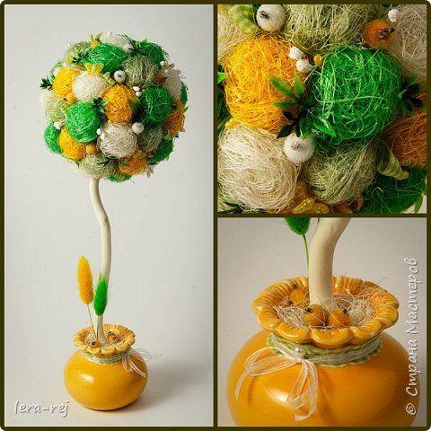 Работы из сизалевых шариков. Вдохновитель - Мария Шарафеева. Огромное спасибо фото 2