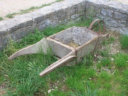 Wheelbarrows were not invented, or used in ancient Greece or Rome, but there were things that were used, that could easily represent a wheelbarrow. They had one wheeled carts that they would carry, food, people, and other objects in if they needed to go a farther distance.