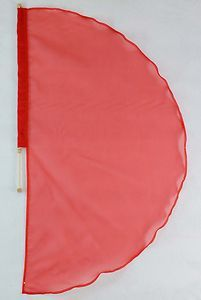 Praise and Worship Crown Flag   Christian Worship Dance Flag w Pole Angel's Wing Sheer Organza Red ...
