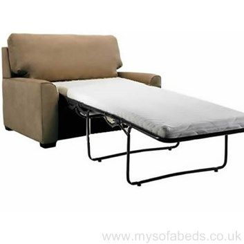 #Contemporary fabric single seat sofa bed. Includes memory foam mattress. Multiple colour options. Free UK delivery.