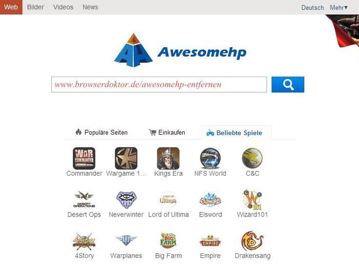 Die Awesomehp Spam-Startseite - Anleitung zum Entfernen der Adware aus Firefox, Chrome und Internet Explorer