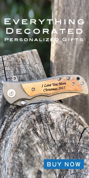 It's almost Christmas! Win the award for best gift of the year with our best selling custom engraved pocket knife! The perfect Christmas gift for your boyfriend, fiance, husband, dad, son, or grandpa! This unique and memorable personalized gift makes for the perfect stocking stuffer. Our high quality stainless steel blade and laser engraved wood handle will surprise and please your man this holiday season!