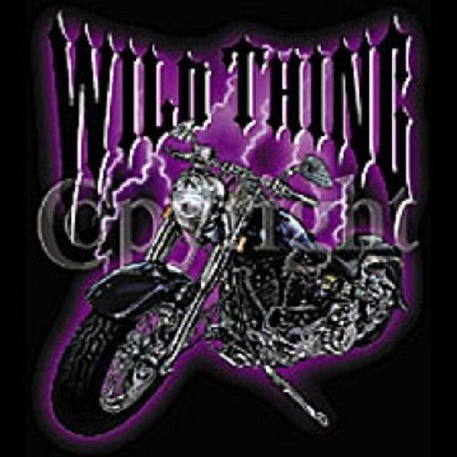 Wild Thing Motorcycle HEAT PRESS TRANSFER for T Shirt Bag Sweatshirt Fabric 049a #AB