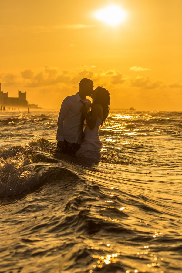 "I definitely want to do an artsy ""trash the dress"" photo shoot someday.  Savvy Deets Bridal: {Trash The Dress} Christine & Jason's Sizzling Sunrise Anniversary Shoot"