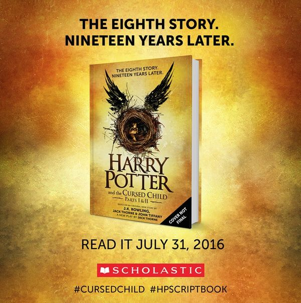 """Scholastic on Twitter: """"The eighth Harry Potter Story. Nineteen years later. Read it on July 31st! #CursedChild #HPScriptBook https://t.co/4FNi2tltfI"""""""
