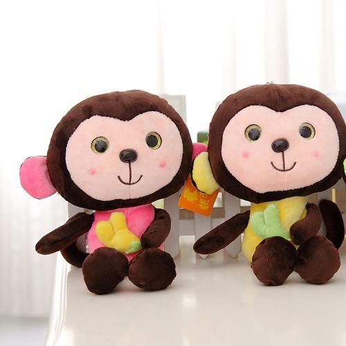 Плюшевые игрушки маленькие куклы, золотые глаза обезьяна Обезьяна талисман, свадьба куклы бросил Подарки для детей, рождественские подарки
