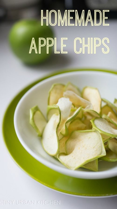 Recipe for how to make crispy green apple chips with a dehydrator!