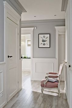 Door molding, wall color, flooring, Love it!
