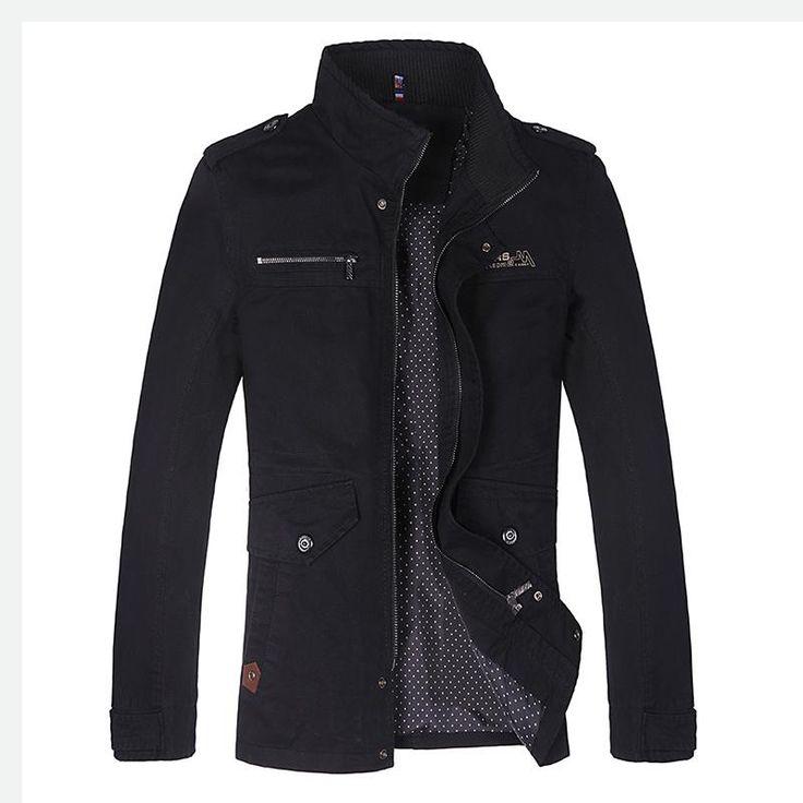BOYUAN NEW Men's Winter Jacket Fashion Windbreaker Quality Cotton Men Jacket Coat Brand Men Clothing Plus Size M-4XL DB1318