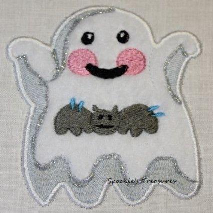 STE010_09 http://www.spookiestreasures.com/products/applique-little-ghost-4x4-8