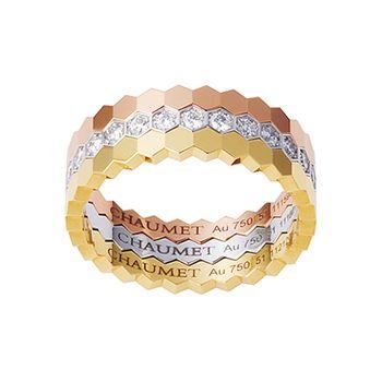 ビー マイ ラブ ハニカムスリーゴールドリング - CHAUMET(ショーメ)の結婚指輪(マリッジリング)結婚指輪・マリッジリングのハイブランドのまとめ一覧♡