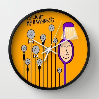 My happyness Wall Clock by Joe Pansa - $30.00