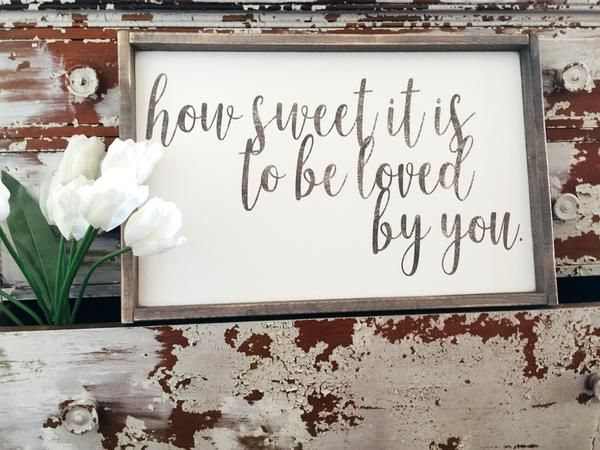 How Sweet It Is | Modern Style Wood Sign