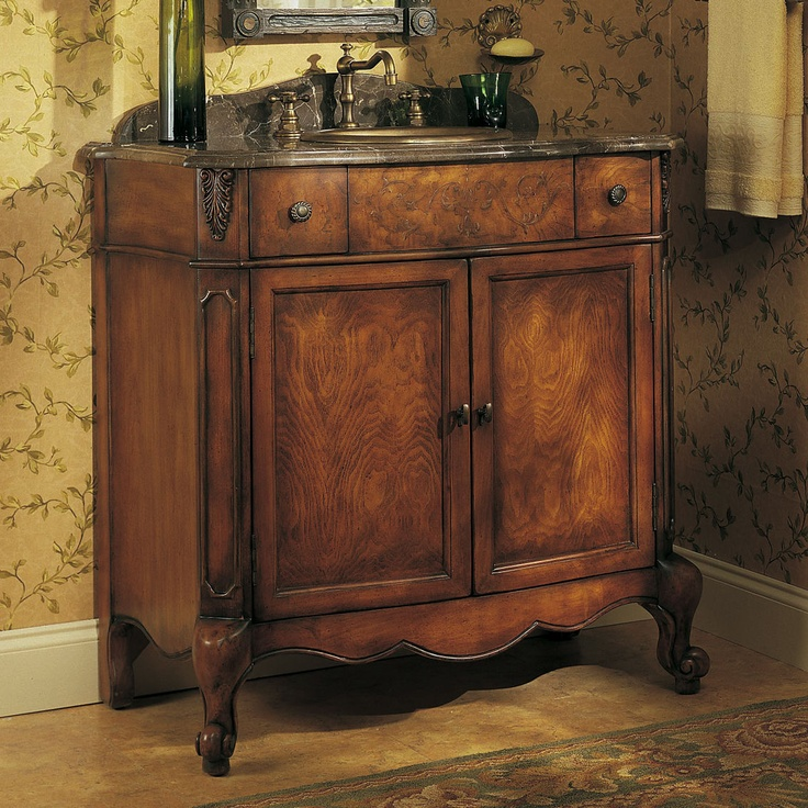 Powder room vanity bathroom reno ideas pinterest for Powder room bathroom vanities